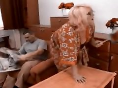 Russian Granny Get Cum on her Glasses Recolored