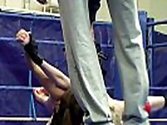 Petite european dyke loves to wrestle