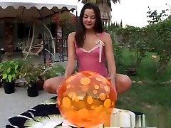 Crazy pornstar Ria Lynn in horny blowjob, outdoor porn movie