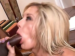 Crazy pornstar Amy Brooke in fabulous tattoos, interracial porn scene