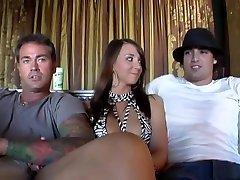 Exotic pornstars Lyla Storm and Katie Jordan in crazy straight sex clip