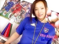 szalona japońska laska aiuchi ricka w niesamowitej sportowej, masturbacja klip jadę
