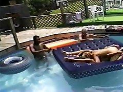 scissor big tits wives mixed screen pool fuck