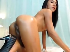Slim wwe diva video TS big boobs massive cock and balls