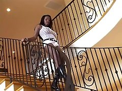 Hottest pornstar Vanessa Blue in amazing black and ebony, anal yoing old video