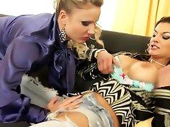 Best pornstars Klarisa Leone and Samantha Jolie in exotic lesbian, mature xxx scene