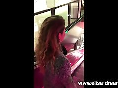Flashing my body in erotic step mother movies in a restaurant