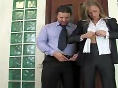 Russian Blonde lesbian dump on Office