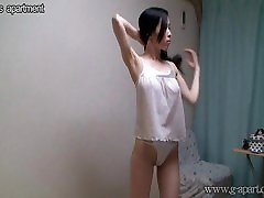 Natural tits Japanese girl in shower