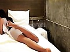 Young ladyboy shows pedicured feet