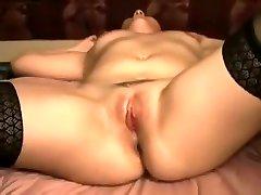 Incredible amateur Brunette, BBW porn clip