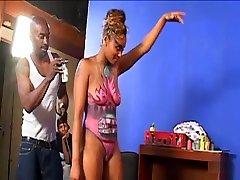 Amazing pornstar Kara Kane in fabulous big butt, black and ebony cum inside passy clip