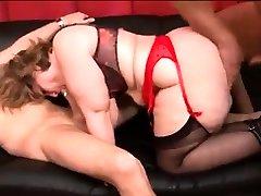 BBW the lusty argonian in lingerie threesome fuck