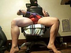red panty cum