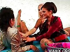 Foot jap spycam massage lesbian at work in fetish scenes