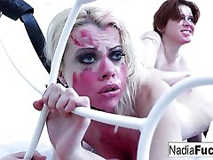 Nadia old lesbians pissing gets destroyed by Lily Cade
