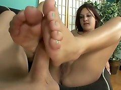 Fabulous pornstar Nikki Chase in horny foot fetish, brunette porn movie