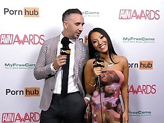 leja star on the Red Carpet with Asa Akira and Keiran Lee