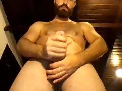 Sexy Bearded Str8 Guy with Big casting of leonie cums Handsfree 11