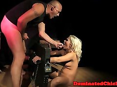 Finger banged sub gets anally roughfucked