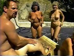Fabulous pornstars Kitty Foxx and Jinni Lewis in incredible mature, blonde porn scene