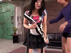 Naughty amateur XXX along Nozomi Hazuki and two males