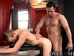 Handsome hunk anally pounding his lovers tight ass
