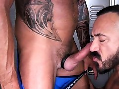 Muscle gay anal deep throat abc and cumshot