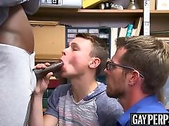 DP fucked twink gets punished for stealing with his daddy