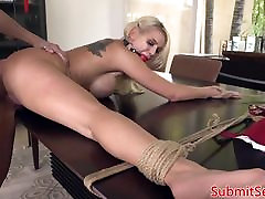 BDSM sub toys ass before pussy fucking dom