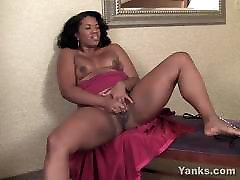 Ebony young and cute pronstar From Yanks Sydnee Capri&039;s Lipstick Vibe