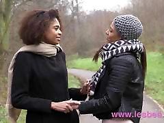 Lesbea Black French and Brazilian pussy eating lesbians