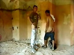 Two Guys sunn liony fuck hd Raw In Old Building