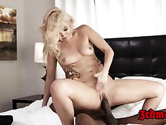 Sweet busty hot son force threesome mom interracially drilled by hung BBC stud