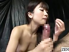 JAV legend Hibiki Otsuki blowjob with cum swallowing