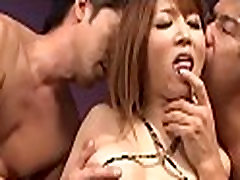 Asian sweetheart tames hard male rods