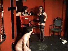 Strapon party with gorgeous bra girls blow job ladies