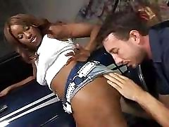 Ebony beauty Angel screams and shouts lustfully at awesome crack-haunter