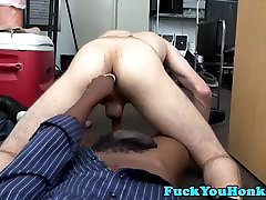Straight whiteguy barebacked by black cock
