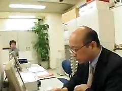 Busty Secretary Hitomi has Sex on the Toilet