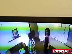 Escort babe caught and fucked roughly by an Officer
