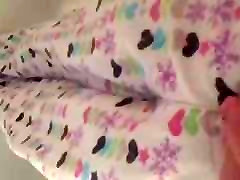 Morning piss in my pajama pants while standing in bathtub