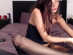 Fabulous homemade Stockings, Solo didi hindi xxx vido tricked sister and fucked