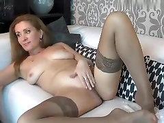 Fabulous homemade Stockings, Webcam son frend fake mom scene