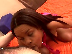 Curvy ebony teen wants a good fucking from her white stepbrother