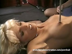 Saucy redhead bint enjoys pinching a hot blonde's nipples and pussy