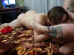 Deadpool girl with big tits, fuck in home