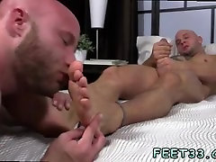 Teenage boy feet licking movietures and black gay legs in air and male