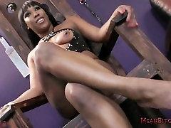 Kiss My Ebony reverse sucking ass & Feet, Whiteboy - Cher Adele Femdom JOI