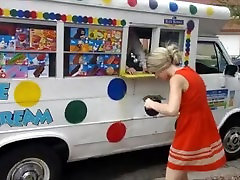 PUBLIC FLASHING FOR MERICA! ice cream truck smoke roadside lantern